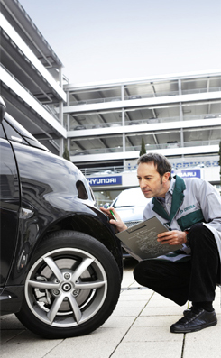 a DEKRA Car Dealer vehicle inspection